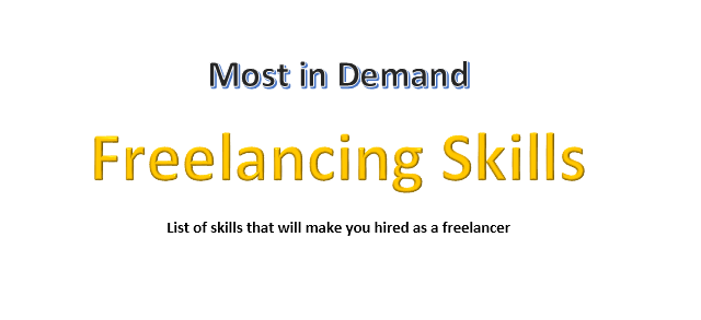 In demand freelancing skills that will get you hired