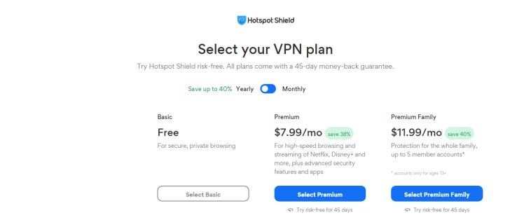 Hotspot Shiled VPN