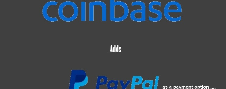 Coibase adds PayPal as a payment option