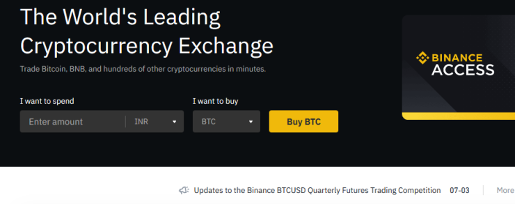 Binance banned in the UK by the FCA