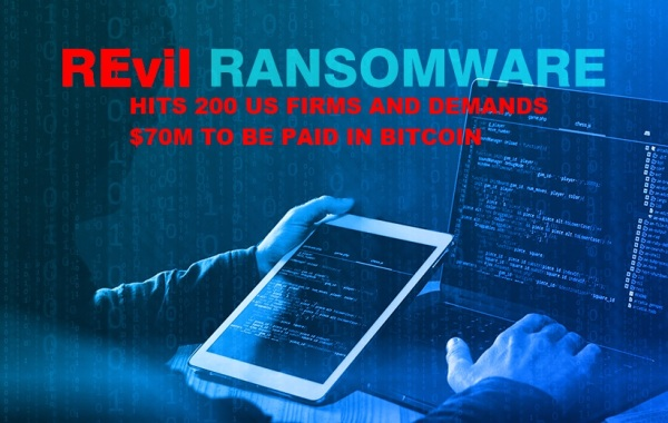 200 US firms hit by ransomware attack from REvil